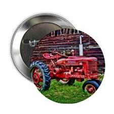 """Red Tractor HDR Style 2.25"""" Button"""