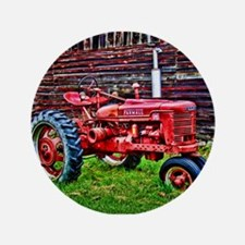 """Red Tractor HDR Style 3.5"""" Button"""
