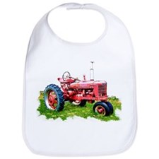 Red Tractor in the Grass Bib
