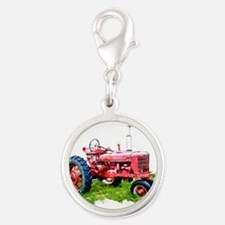 Red Tractor in the Grass Charms