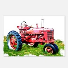 Red Tractor in the Grass Postcards (Package of 8)