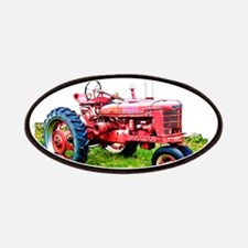Red Tractor in the Grass Patches
