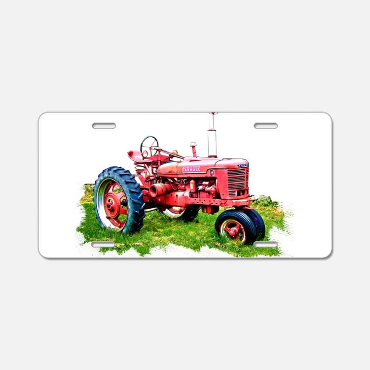 Red Tractor Plate Outlit : Antique tractor license plates front