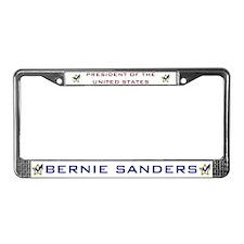 Bernie Sanders President USA V License Plate Frame