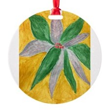 Claire Bala - Holly on Gold Ornament