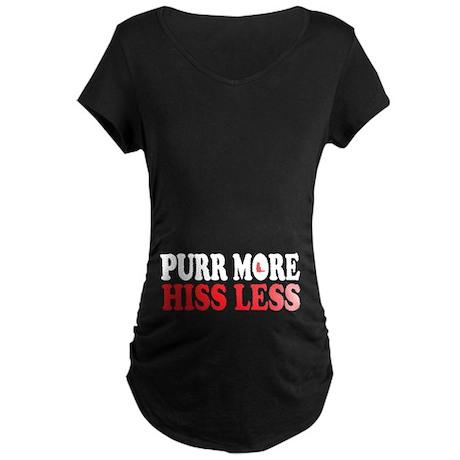 Shorthair Purr Maternity Dark T-Shirt