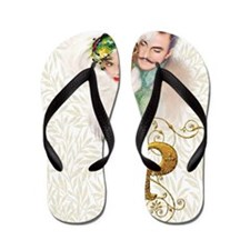 Monogram P Art Deco Lovers Flip Flops