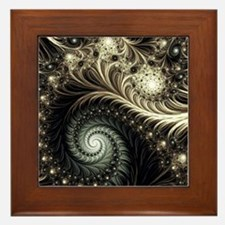 Cute Swirl Framed Tile