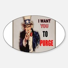i want you to purge uncle sam Decal