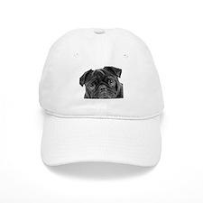 Black Pug Baseball Cap