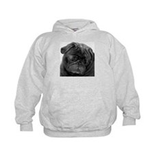 Black Pug Hoodie