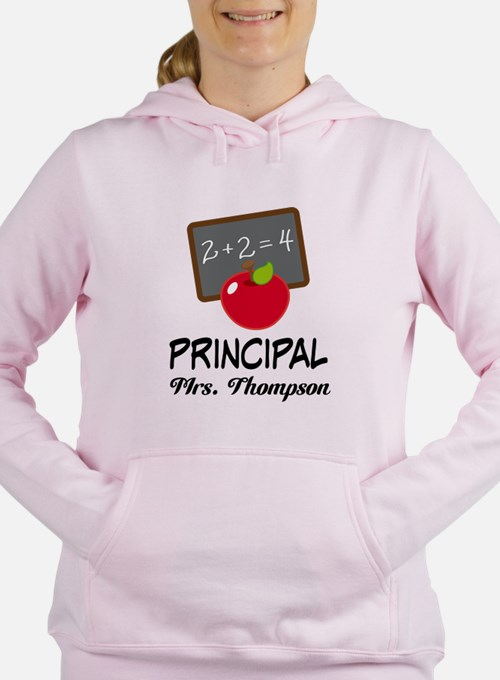 School Principal Personalized Women's Hooded Sweat