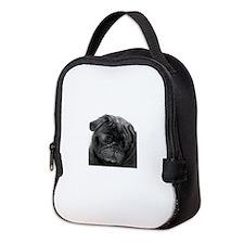 Black Pug Neoprene Lunch Bag