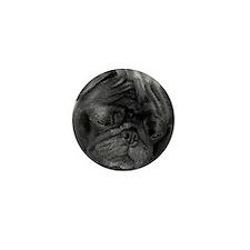 Black Pug Mini Button (100 pack)
