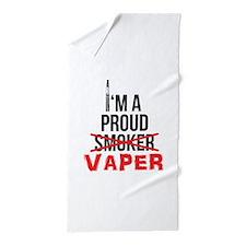 I'm a Proud Vaper (Ex-Smoker) Beach Towel