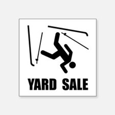"Unique Yard sale Square Sticker 3"" x 3"""