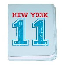 New York 11 baby blanket