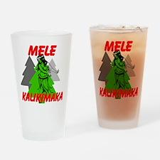 Mele Kalikimaka (Merry Christmas) Drinking Glass