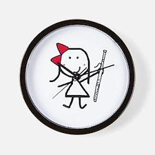 Girl & Bassoon Wall Clock