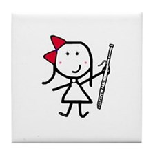 Girl & Bassoon Tile Coaster