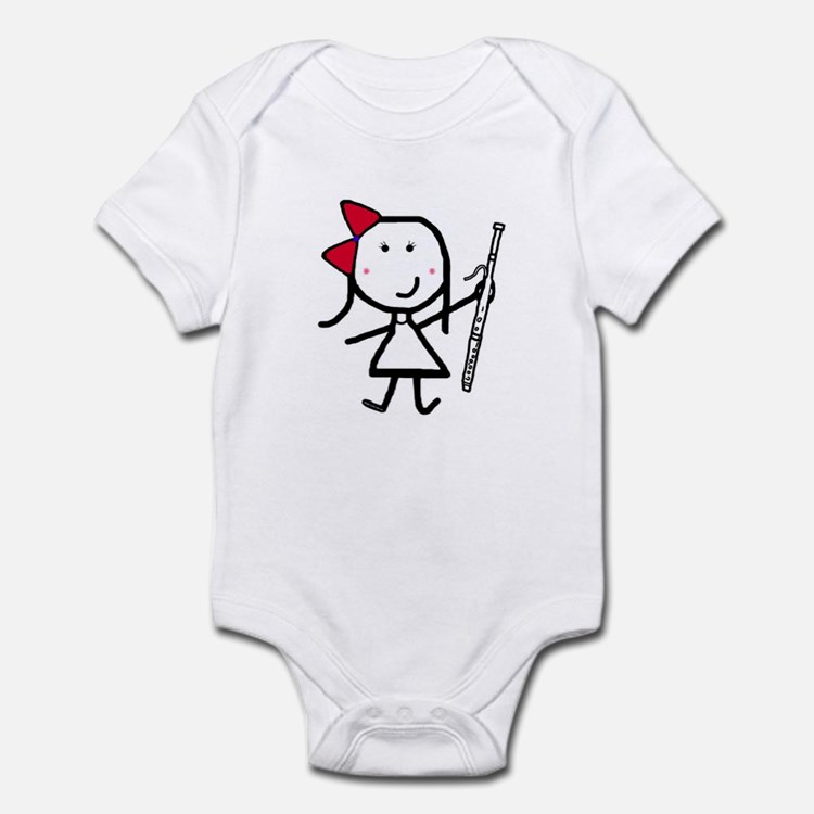 Girl & Bassoon Infant Bodysuit