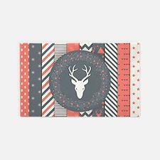 Deer Wreath Area Rug