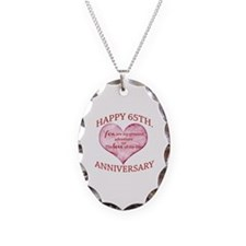 65th. Anniversary Necklace Oval Charm