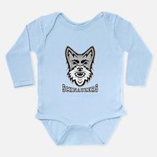 Schnauzer Sports Long Sleeve Infant Bodysuit