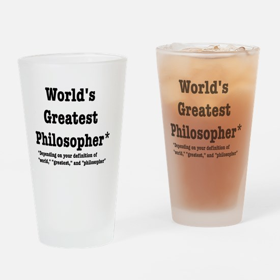 World's Greatest Philosopher Drinking Glass
