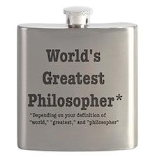 World's Greatest Philosopher Flask