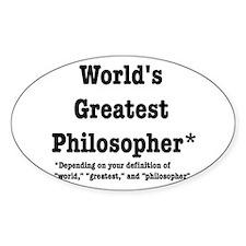World's Greatest Philosopher Bumper Stickers