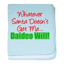 Santa Doesn't Get Me Daideo baby blanket