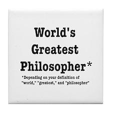 World's Greatest Philosopher Tile Coaster