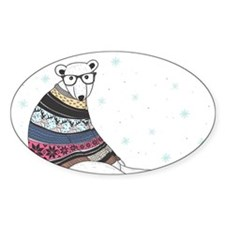 Hipster Polar Bear Decal
