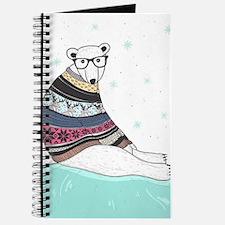 Hipster Polar Bear Journal