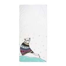 Hipster Polar Bear Beach Towel