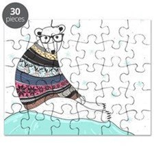Hipster Polar Bear Puzzle