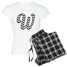 Letter W Chevron Monogram Pajamas