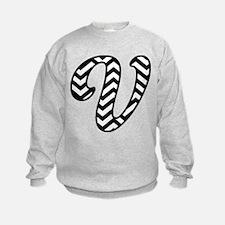 Letter V Chevron Monogram Sweatshirt