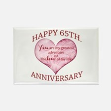 65th. Anniversary Magnets