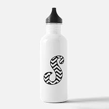 Letter S Chevron Monog Water Bottle