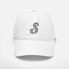 Letter S Chevron Monogram Baseball Baseball Cap