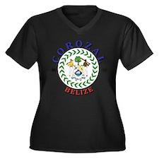 Corozal Women's Plus Size V-Neck Dark T-Shirt