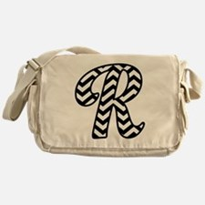 Letter R Chevron Monogram Messenger Bag