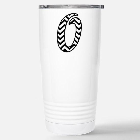 Letter O Chevron Monogr Stainless Steel Travel Mug
