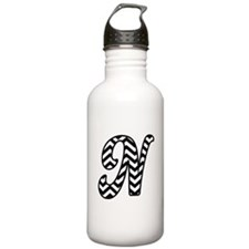 Letter N Chevron Monog Water Bottle