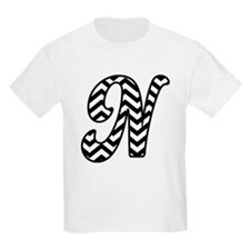 Letter N Chevron Monogram T-Shirt