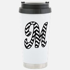 Letter M Chevron Monogr Travel Mug