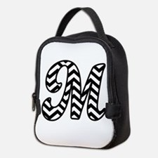 Letter M Chevron Monogram Neoprene Lunch Bag