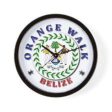 Orange Walk Wall Clock